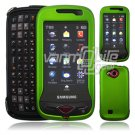"Green Hard ""Rubberize"" 2-Pc Snap On Plastic Faceplate Case for Samsung Reality U820 (Verizon)"