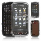 "Clear Hard ""Transparent"" 2-Pc Plastic Snap On Faceplate Case for Samsung Reality (Verizon)"