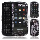 Black Skulls Design Hard 2-Pc Snap On Faceplate Case for Samsung Reality (Verizon Wireless)