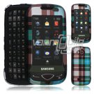 Blue Design Hard 2-Pc Snap On Faceplate Case for Samsung Reality (Verizon Wireless)