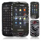 Silver/Black Zebra Design Hard 2-Pc Snap On Faceplate Case for Samsung Reality (Verizon Wireless)