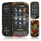Skulls and Hearts Design Hard 2-Pc Snap On Faceplate Case for Samsung Reality (Verizon Wireless)