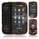 Skulls and Snakes Design Hard 2-Pc Snap On Faceplate Case for Samsung Reality (Verizon Wireless)