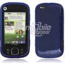 Blue Argyle Design 1-Pc Hard Rubber Skin Case for Motorola Cliq XT (T-Mobile)