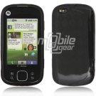 Black/Smoke Argyle Design 1-Pc Hard Rubber Skin Case for Motorola Cliq XT (T-Mobile)