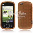 Orange Argyle Design 1-Pc Hard Rubber Skin Case for Motorola Cliq XT (T-Mobile)