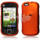 "Orange Hard 2-Pc ""Rubberized"" Snap On Faceplate Case for Motorola Cliq XT (T-Mobile)"