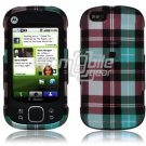 Blue Design Hard 2-Pc Snap On Faceplate Case for Motorola Cliq XT (T-Mobile)
