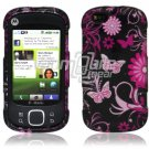 Pink Butterfly Design Hard 2-Pc Snap On Faceplate Case for Motorola Cliq XT (T-Mobile)