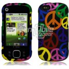 Peace Sign Design Hard 2-Pc Snap On Faceplate Case for Motorola Cliq XT (T-Mobile)