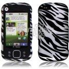 Black/Silver Zebra Design Hard 2-Pc Snap On Faceplate Case for Motorola Cliq XT (T-Mobile)