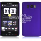 "Purple Hard 1-Pc Rubberized ""Back/Rear"" Case for HTC HD2 (T-Mobile)"