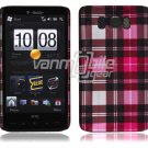 """Pink Plaid Design Hard 1-Pc """"Back/Rear"""" Case for HTC HD2 (T-Mobile)"""