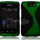 "Black/Green Hard ""Robotic"" 2-Pc Case for BlackBerry Storm 2 9550"