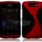 "Black/Red Hard ""Robotic"" 2-Pc Case for BlackBerry Storm 2 9550"