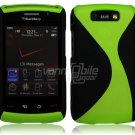 "Black/Neon Green Hard ""Robotic"" 2-Pc Case for BlackBerry Storm 2 9550"