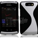 "Black/Silver Hard ""Robotic"" 2-Pc Case for BlackBerry Storm 2 9550"