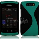 "Black/Turquoise Hard ""Robotic"" 2-Pc Case for BlackBerry Storm 2 9550"