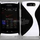 """Black/White Hard """"Robotic"""" 2-Pc Case for BlackBerry Storm 2 9550"""