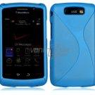 "Sky Blue Hard ""Robotic"" 2-Pc Case for BlackBerry Storm 2 9550"
