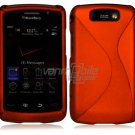 "Orange Hard ""Robotic"" 2-Pc Case for BlackBerry Storm 2 9550"