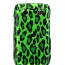 Green Leopard Design Hard 2-Pc Design Faceplate Case for BlackBerry Bold 9700
