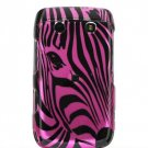 Pink Zebra Face Design Hard 2-Pc Snap On Faceplate Case for BlackBerry Bold 9700