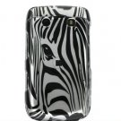Silver Zebra Face Design Hard 2-Pc Snap On Faceplate Case for BlackBerry Bold 9700