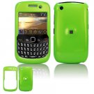 Hard Plastic Glossy Smooth Case for BlackBerry Curve 8520 (T-Mobile) - Green