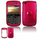 Hard Plastic Glossy Smooth Case for BlackBerry Curve 8520 (T-Mobile) - Rose Pink