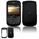"Black Hard ""Rubber Feel"" Case for BlackBerry Curve 8520 (T-Mobile)"