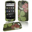 Green Design Hard Gem Bling Case for Google Nexus One