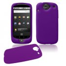 Soft Rubber Silicone Skin Cover Case for Google Nexus One - Purple