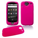 Soft Rubber Silicone Skin Cover Case for Google Nexus One - Pink