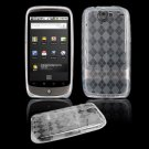 "Clear Hard ""Semi-Transparent"" Gel Argyle Design Cover for Google Nexus One"