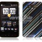 Blue/Black Design 1-Pc Hard Case for HTC HD2 (T-Mobile)