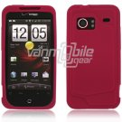 "Hot Pink Hard 2-Pc ""Rubberize"" Snap On Faceplate Case for HTC Droid Incredible"