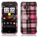 Pink Design Hard 2-Pc Faceplate Case for HTC Droid Incredible (Verizon)