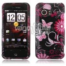Pink/Black Design Hard 2-Pc Faceplate Case for HTC Droid Incredible (Verizon)