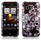 Silver/Black Skulls Design Hard 2-Pc Faceplate Case for HTC Droid Incredible (Verizon)
