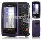 "Lavender Hard 2-Pc ""Rubberize"" Plastic Snap On Faceplate Case for LG Rumor Touch (Sprint)"