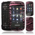 Pink/Black Zebra Stripes Hard 2-Pc Case for Samsung Reality U820 (Verizon Wireless)