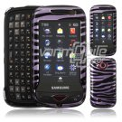 Purple/Black Zebra Stripes Hard 2-Pc Case for Samsung Reality U820 (Verizon Wireless)
