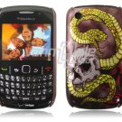 "Serpent Skull Design Hard 1-Pc ""Back"" Case for BlackBerry Curve 8520/8530"