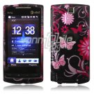 Pink/Black Butterfly Design Hard 2-Pc Faceplate Case for HTC Pure (AT&T)