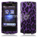 Purple Leopard Design Hard 2-Pc Faceplate Case for HTC Pure (AT&T)
