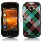 Blue Argyle Design Hard Case for Samsung Omnia 2 i920 (Verizon Wireless)