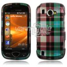 Blue Plaid Design Hard Case for Samsung Omnia 2 i920 (Verizon Wireless)