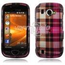 Pink Plaid Design Hard Case for Samsung Omnia 2 i920 (Verizon Wireless)