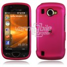 "Hot Pink Hard ""Rubber Feel"" 2-Pc Snap On Case for Samsung Omnia 2 i920 (Verizon Wireless)"